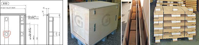 Kisten und Paletten aus Holz